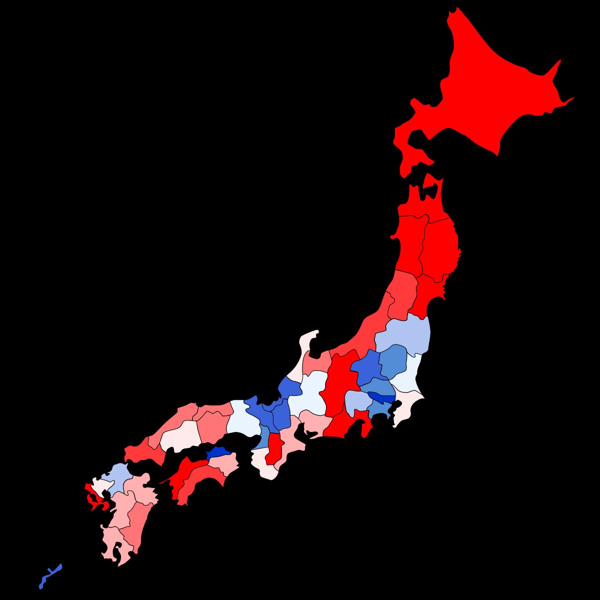 都道府県別公立小中学校のエアコン(冷房)の設置マップ