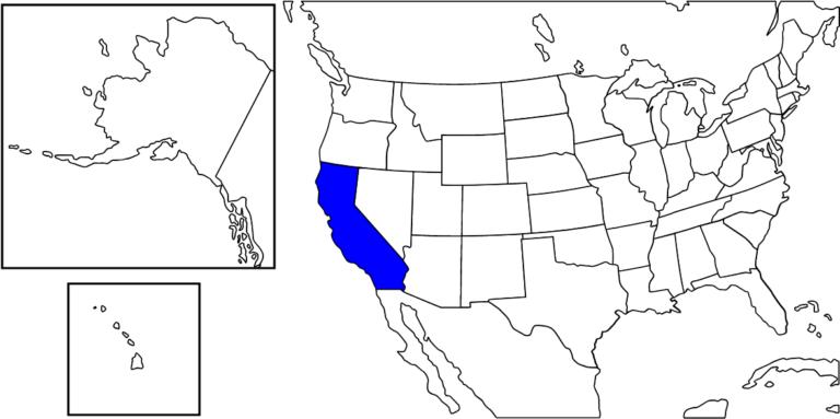 カリフォルニア州の位置
