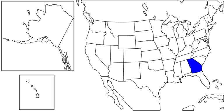 ジョージア州の位置