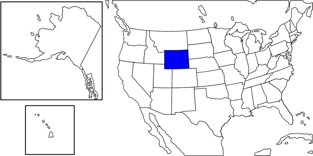 ワイオミング州の位置
